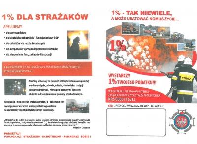 Przekaż 1% strażakom