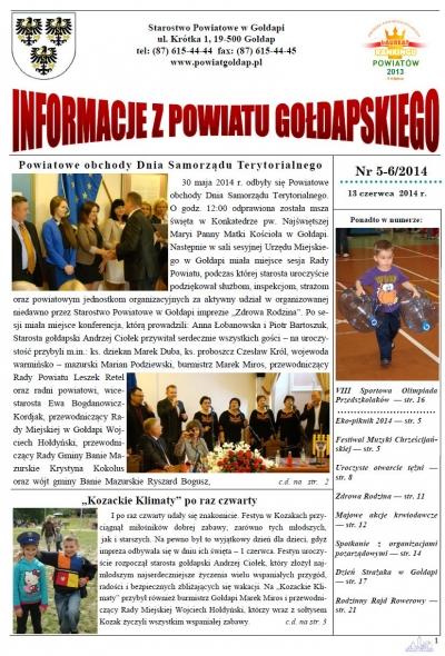 Informacje z Powiatu Gołdapskiego nr 5-6/2014