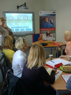 Warsztat i wykład dla nauczycieli ze Szkoły Podstawowej w Galwieciach