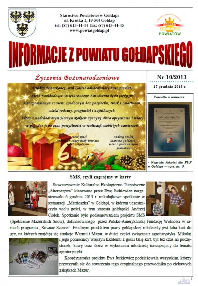 Informacje z Powiatu Gołdapskiego nr 10/2013