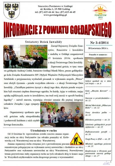 Informacje z Powiatu Gołdapskiego nr 3-4/2014