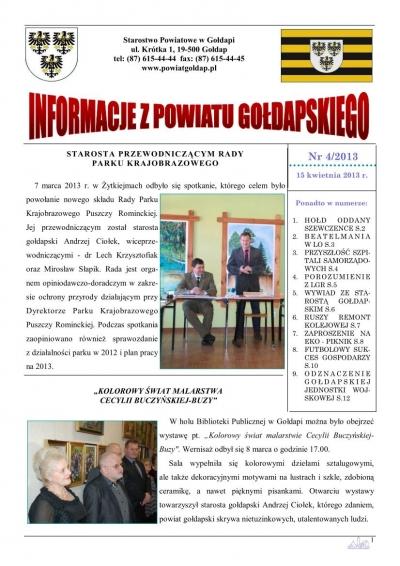 Informacje z Powiatu Gołdapskiego nr 4/2013
