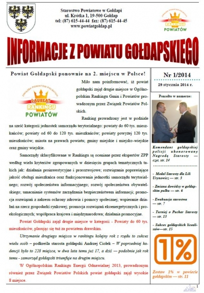 Informacje z Powiatu Gołdapskiego nr 1/2014