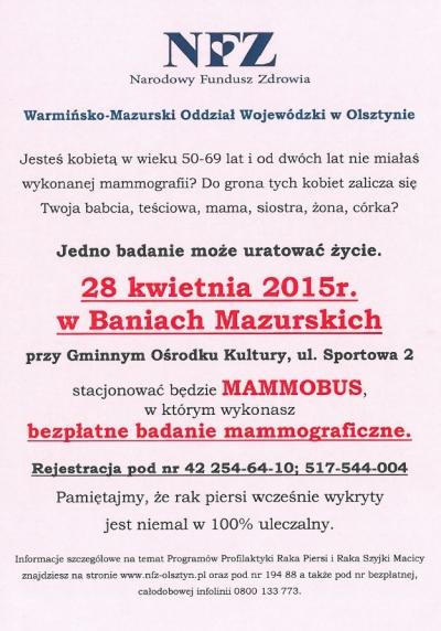 Mammobus w Baniach Mazurskich - 28 kwietnia