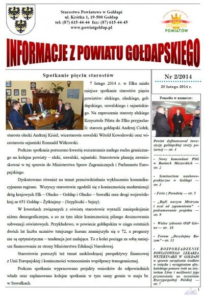 Informacje z Powiatu Gołdapskiego nr 2/2014