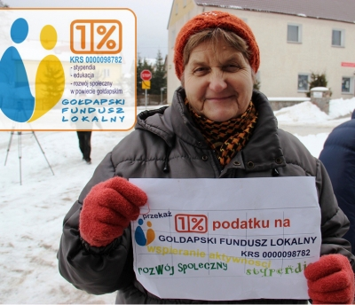 Zostaw swój 1% podatku w powiecie gołdapskim na wspieranie stypendiów i rozwoju społeczno-kulturalnego