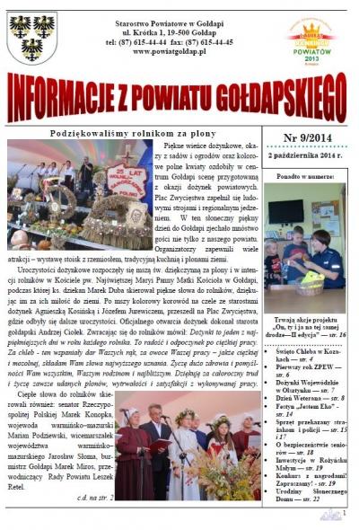 Informacje z Powiatu Gołdapskiego nr 9/2014
