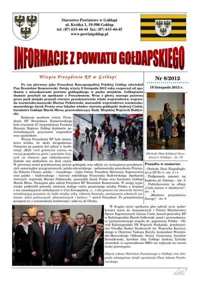 Informacje z Powiatu Gołdapskiego nr 8/2012