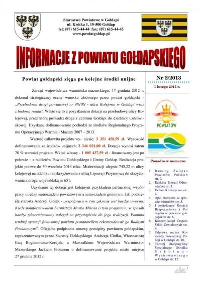 Informacje z Powiatu Gołdapskiego nr 2/2013